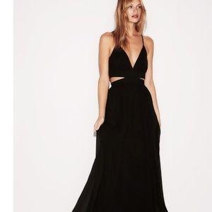 Apricot lane black halter cut out maxi dress RP